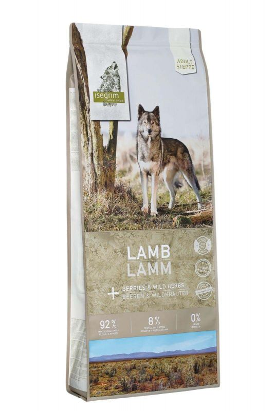 ISEGRIM Steppe ADULT Lamb with berries GRAIN FREE - JEHNĚ A LESNÍ PLODY 12kg