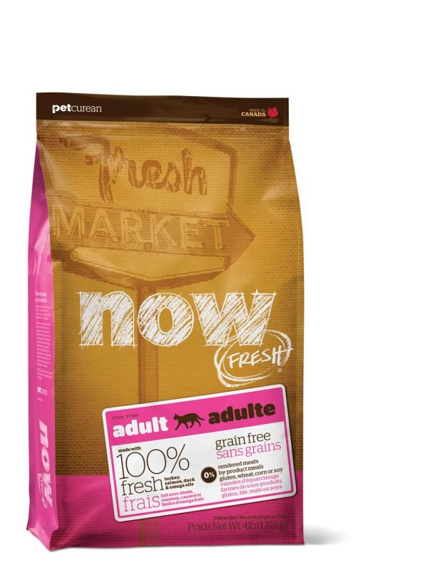 NOW FRESH Grain Free Adult CAT - KROCAN, LOSOS, KACHNA 7,25 kg